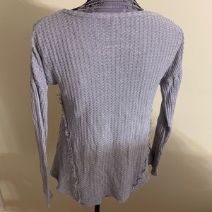 Juicy Couture Tops - Juicy Couture Grey V-Neck Long Sleeve